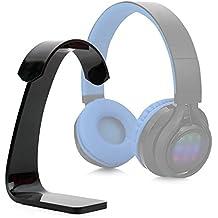 DURAGADGET Soporte para Auriculares Philips SHB3060WT/00 / Sennheiser GSP 350 / Excelvan BT9916 / Sony MDR-ZX220BT con recogecables. Color negro.