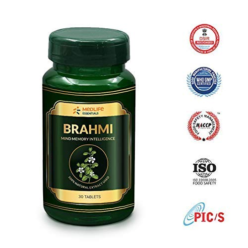 Medlife Essentials Brahmi - Stress Relief And Memory Booster - 30 Tablets