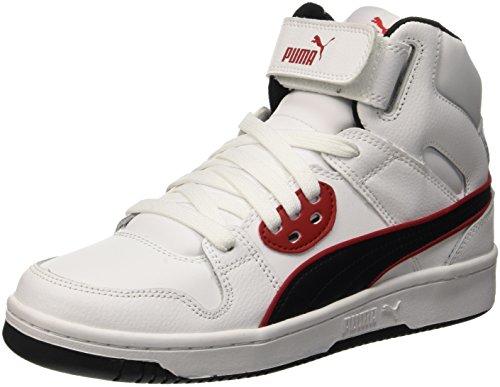 Puma Rebound Street the Jr Sneaker, White/Black, Size 4