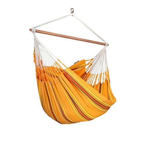 La Siesta Hängestuhl Lounger CURRAMBERA Farbe Apricot Hängesessel CUL21-5 Hängestuhl inkl. Befestigungsset Universal Rope