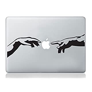 artstickers Michelangelo Creation of Adam Italienisches Hände Mac Aufkleber Apple MacBook Laptop Aufkleber Kunst Vinyl Kunst