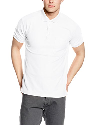 Fruit of the Loom Herren Poloshirt Weiß - Weiß