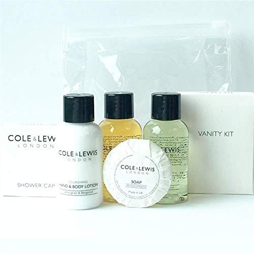 Cole & Lewis Lemongrass & Bergamotte Gäste Toilettenartikeln. Enthält Shampoo, body wash, Hand und Body Lotion, Seife, Vanity Kit, Dusche Cap -