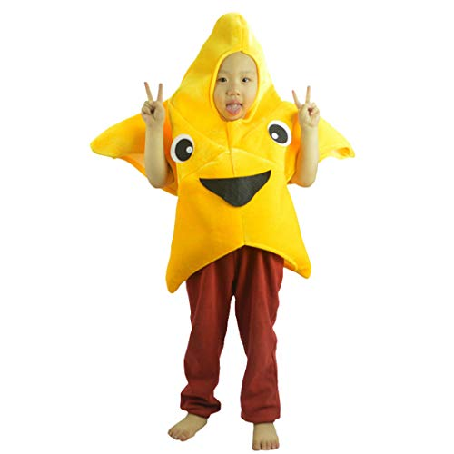 dchen Kinder Cartoon Seestern Kostüm Für Fasching Halloween Gelb ()