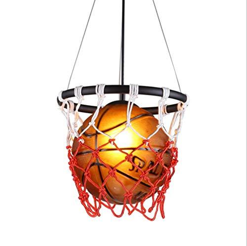 Fang NI Canasta de Baloncesto Retro Personalidad Creativa Lámpara Colgante Restaurante Bar Arte Lámpara Colgante Lámpara de Techo Luz (no Incluye Bombilla)
