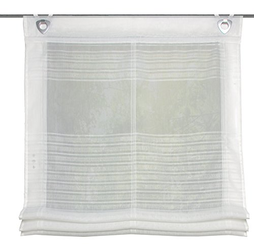 Home Fashion 091/301–1007130x 0060Wollweiss Estor 45,72Rayas horizontales, plástico, Color Blanco, 130x 60cm
