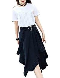 YUCH Falda De Mujer Medio Vestido Irregular Primavera Y Verano 3e9ec071a5af