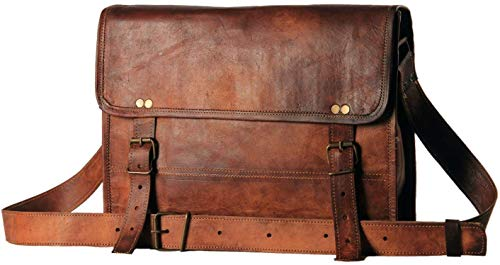 american blue Surya_leather Herren Auth Echtes Leder Messenger Bags Laptop Aktentasche Satchel Mens Bag