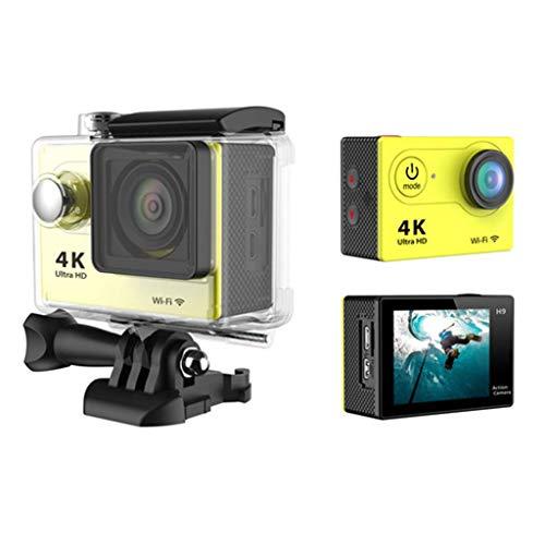 Action-Kameras H16-4 12MP 4K WiFi wasserdichte Sportkamera 170 Grad Ultra-Weitwinkelobjektiv mit Akku und Montagekit 120fps Digital Video
