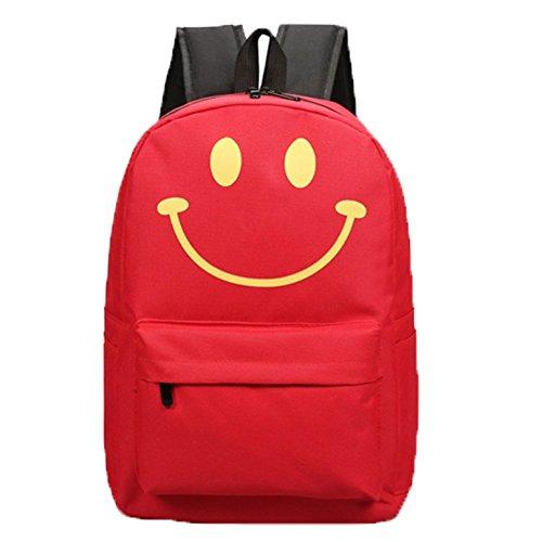 Ohmais Rücksack Rucksäcke Rucksack Backpack Daypack Schulranzen Schulrucksack Wanderrucksack Schultasche Rucksack für Schülerin rot