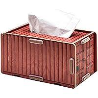 Somedays Innovador estuche de madera para dibujo de papel, soporte de madera para decoración del hogar, oficina, papel de seda, caja de soporte
