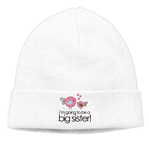 Mens I'm Going to Be Big Sister Whimsy Bird Toddler Classic Jogging Black Beanies Caps Hats
