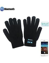 HMILYDYK invierno calentadores de punto Bluetooth, Batería Inteligente pantalla táctil guantes con un built-
