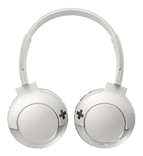 Philips SHB3075WT Bass + On-Ear Bluetooth Wireless Headphones with Microphone (12Hours battery with Rich Sound–Powerful Bass)White Best Price and Cheapest
