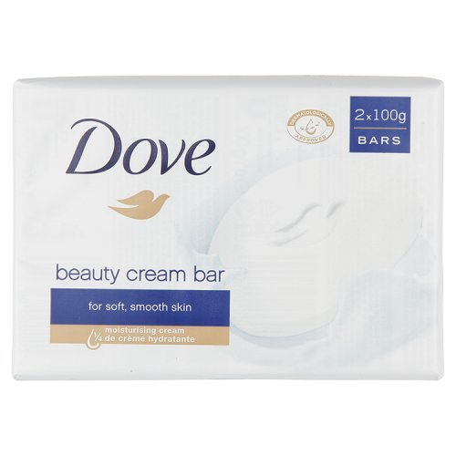Dove - Beauty cream bar, Detergente di Bellezza, Pacco da  2X100 g, totale: 200 g