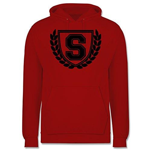 Anfangsbuchstaben - S Collegestyle - Männer Premium Kapuzenpullover / Hoodie Rot