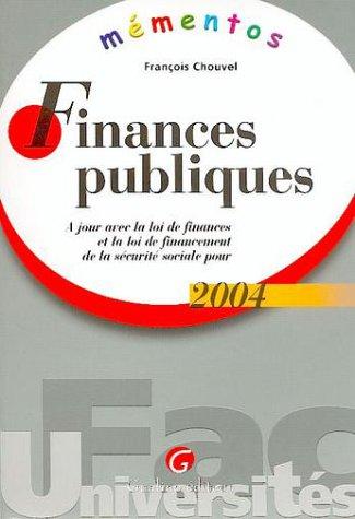 Finances publiques par François Chouvel