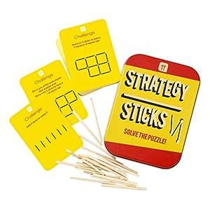 Talking Tables Juego de Mesa de Navidad, diseño con Texto Resuelve el Rompecabezas y Las Tarjetas de la Familia y más de 2 Jugadores, Color (Tin-Sticks)