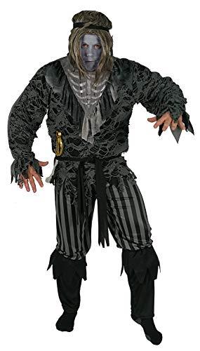 Foxxeo Skelett Piraten Geister Kostüm für Herren Halloween Fasching Karneval Größe XL