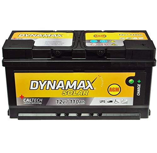 AGM - Batteria solare USV 110 Ah, Dynamax senza manutenzione, corrente di emergenza da 150 Ah, 140 Ah, 130 Ah, 120 Ah, 100 Ah, gel