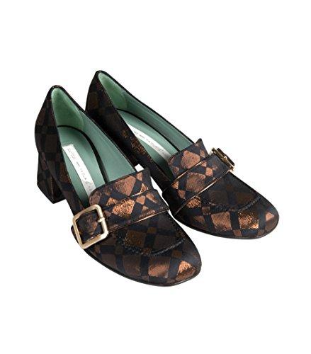 PAOLA DARCANO Damen Loafer mit Stoffüberzug Glänzend diamant bronze