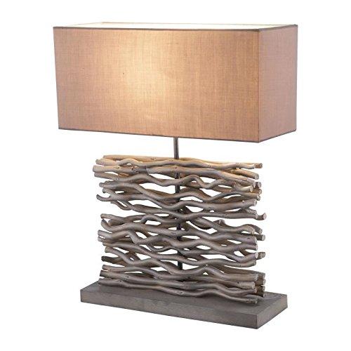Lampe a poser Bois 50x15x40 cm Gris