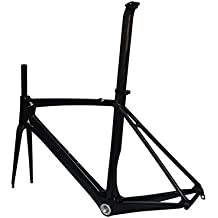 Bicicleta de carretera cuadro (de carbono para BB30): 56cm Marco Tenedor abrazadera de tija de sillín