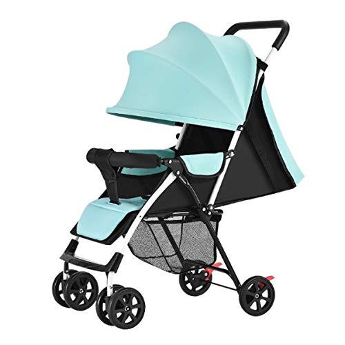 Leichter Kinderwagen, Carry On Flight Cabrio Kinderwagen Kompakter Kinderwagen Travel System (Light Cyan)