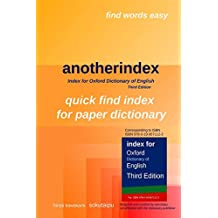 anotherindex: Index for Oxford Dictionary of English Third Edition (English Edition)