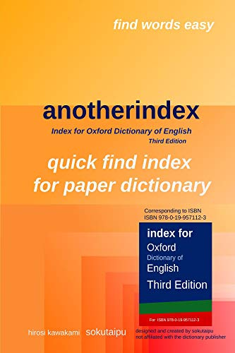 anotherindex: Index for Oxford Dictionary of English Third Edition ...