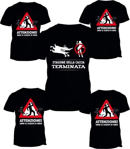 Fashwork pacchetto t-shirt addio al celibato - stagione della caccia terminata - addio al celibato in corso - magliette simpatiche e divertenti