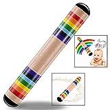 LHKJ Bunt Holz Regenmacher,Kinder Regenstab Musikinstrument,Holz Rainstick für Baby Kleinkinder