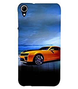 Fuson Designer Phone Back Case Cover HTC Desire 828 Dual Sim ( Car With A Background )