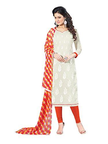 Applecreation Off white Chanderi Salwar Kameez