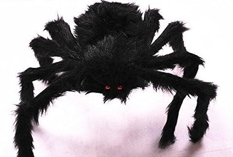 Edealing 2PCS Halloween Araignée Terror Toy Prop Haunted House Bar Horrific Décoration peluche noire
