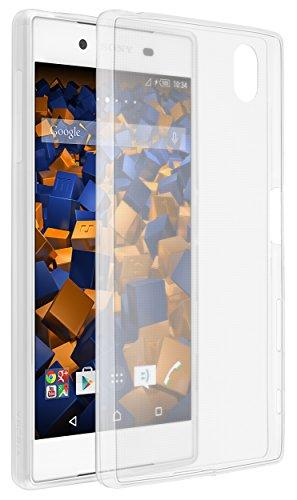 mumbi Schutzhülle für Sony Xperia Z5 Hülle transparent weiss (Ultra Slim - 0.55 mm)
