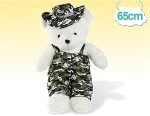 Peluche mignonne camouflage ours Sz 65 x 30 cm