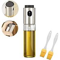 Edelstahl Olive Oil Sprayer Glas Flasche mit 2 freien Öl-Bürsten für BBQ/Essig/Soja-Sauce