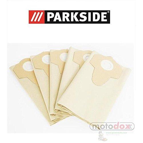 5sacchetti per aspirapolvere 30litri marrone sporco grossolano Parkside Lidl PNTS 1500A1B2B323E 30/4