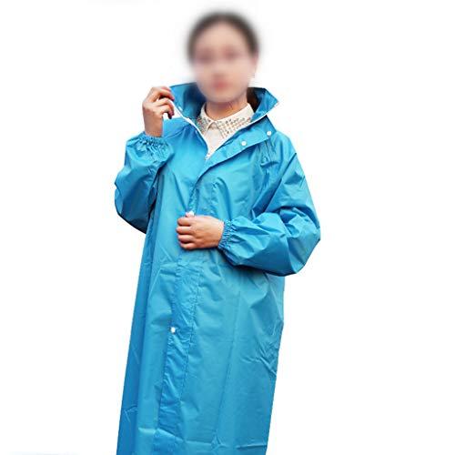 HGXC WY Regenmantel, Kapuze Reitmantel Regenmantel Wetterschutz Poncho Motorrad verdickte Regenhülle draussen (Farbe : Meeresblau, größe : XXXL)