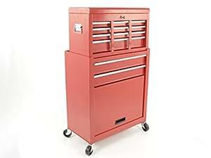 kit chariot d 39 outillage avec caisse et armoire outils sur roulettes rouge bricolage. Black Bedroom Furniture Sets. Home Design Ideas