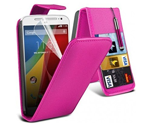 Price comparison product image C63® Motorola Moto G (First Edition) Purple Flip Case Wallet Cover