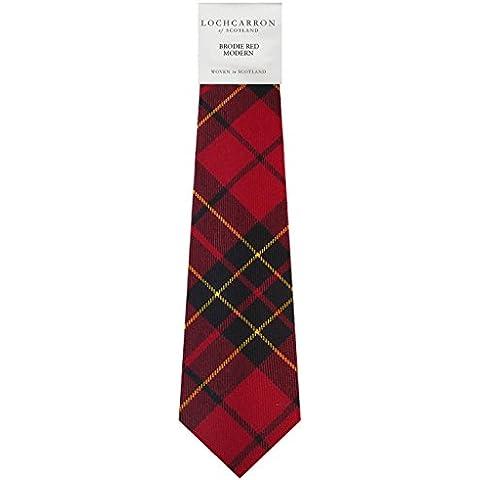 Brodie Red Tartan (Modern) Soft Pure Wool, Mens