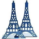 1coppia di graziosi fermalibri decorativi a forma di torre Eiffel, per scaffali e scrivania, in metallo Marina Militare