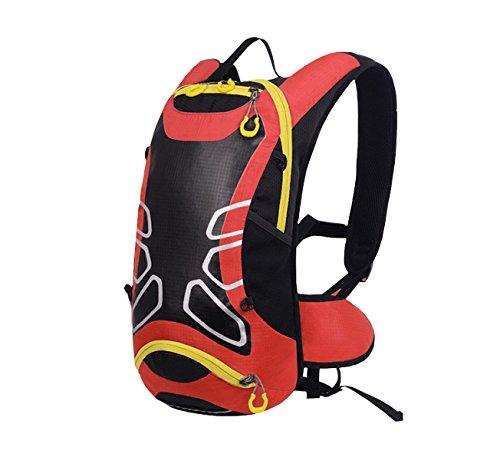 Xin.S Zaino Da Equitazione Esterno Bici Attrezzature Per L'alpinismo Equitazione Passeggiate Zaino Da Viaggio Borsa A Tracolla Zaino Multifunzionale. Multicolore Red