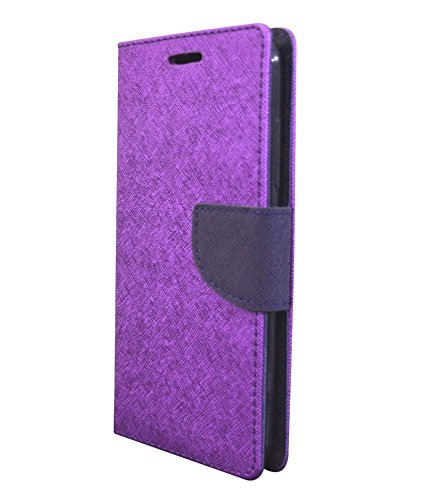 COVERNEW Mercury Flip cover for Micromax A110 - Purple