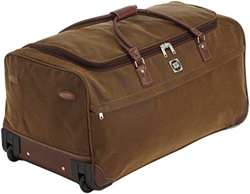 HAUPTSTADTKOFFER - Tiergarten - Reisetasche mit Rollen Trolley-Tasche Reisekoffer mit geräumigem Hauptfach, 77 cm, 108 Liter, Braun Lederoptik -