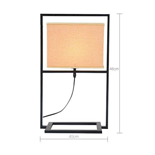 HYNH Tischleuchte QiangDa Tabelle Lampe Licht Schreibtisch Lesen Antike Eisen-Lampe Moderne Wohnzimmer-Zimmer-Hotel am Bett Schreibtisch Tischlampe Neue Lampe (Farbe : 3008-1) (Eisen-bett-satz)