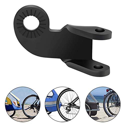 BJKM Fahrradanhänger Kupplung, 12,2 MM Fahrrad-Stahlkupplungs-Verbindungsstück, für Spann- und Schwinn-FA (Schwarz) -
