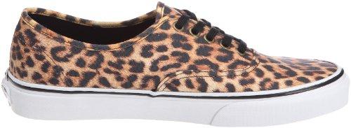Vans U Authentic, Baskets mode mixte adulte Beige (Leopard Black)